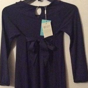 Monsoon Dresses - NWT Monsoon, Blue L/S & embroidery dress # 9/10 Yr